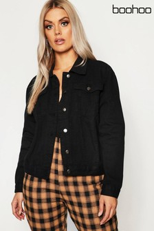 Boohoo Curve Slim Fit Western Denim Jacket