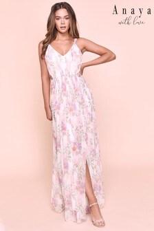 שמלת מקסי Anaya עם כתפיות ושסע