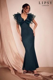 Lipsy Ruffled Sleeve Maxi Dress