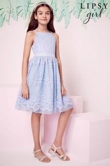 שמלת תחרה לאירוע לבנות של Lipsy