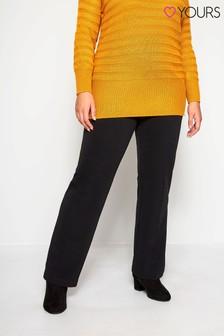 מכנסי פונטה30 אינץ' בגזרת בוטקאט למידות גדולות שלYours