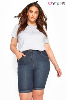 Yours Curve Basic-Denim-Shorts