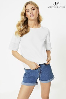 JDY Lace Trim T-Shirt