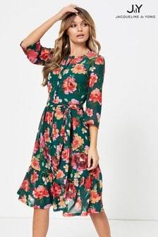 שמלת מידי פרחוניתשלJDY