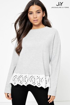 JDY Lace Trim Sweatshirt