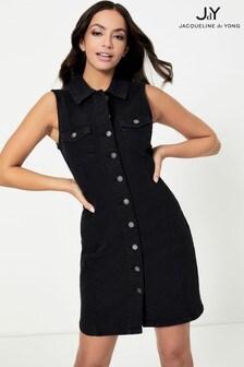 JDY Denim Button Front Dress