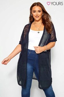 Yours Curve - Cardigan effetto pizzo