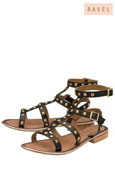Ravel Stud Detail Gladiator Style Sandal