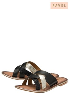 Ravel Strap Detail Mule Sandal