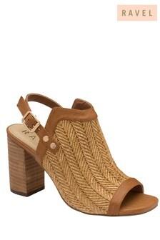 Ravel sandalen met geweven voorkant