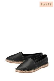 Ravel Leather Flat Espadrille Rope Sole Shoe