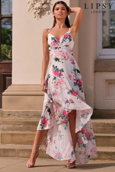 Lipsy Printed Buckle Maxi Dress