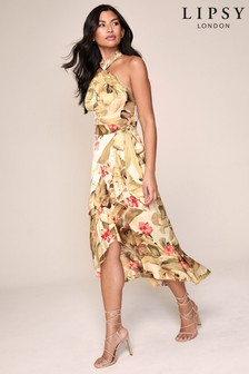 Lipsy Halter Tropical Dress