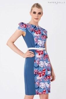 Paper Dolls Cap Sleeve Bodycon Dress