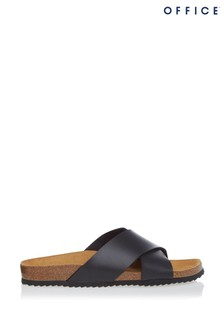 Office Cross Strap Footbed Sandals