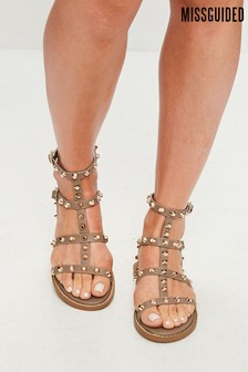 Missguided Stud Gladiator Sandal
