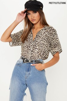 PrettyLittleThing Leopard Print Shirt