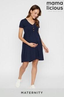 Dżersejowa sukienka mini dla kobiet w ciąży Mamalicious