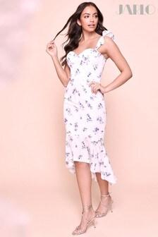 Jarlo Sweetheart Floral Midi Dress