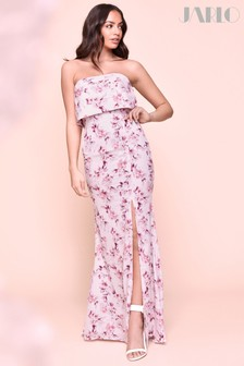 Jarlo Floral Bandeau Maxi Dress