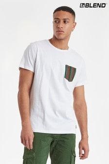 חולצתטי בגזרה רגילה מבד מעורב