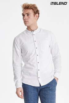 Camisa entallada con cuello henley de Blend