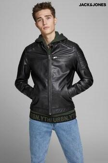 Jachetă Jack & Jones stil motociclist