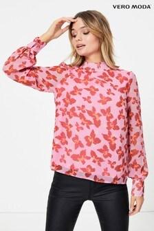 Блузка с принтом бабочек Vero Moda