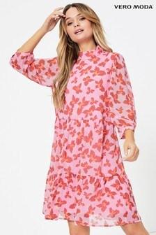 Vero Moda Bedrucktes Smock-Kleid