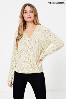 Vero Moda Drapierte Bluse