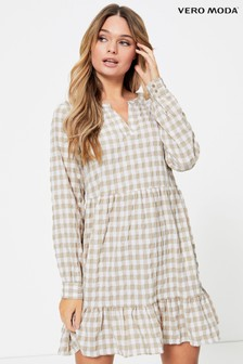 Vero Moda Check Smock Dress