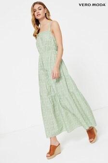 Vero Moda Ditsy Floral Tiered Maxi Dress