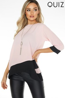 Quiz Cross Hem Top