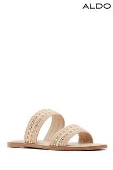 Aldo Double Strap Sandals With Embellishment