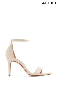 Aldo Stiletto Heel Leather Two Part Sandal