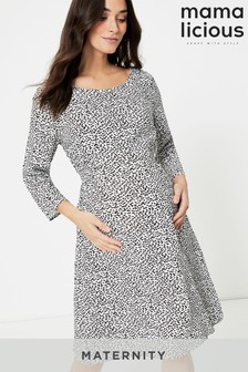 Mamalicious Three-Quarter Sleeve Maternity Dress