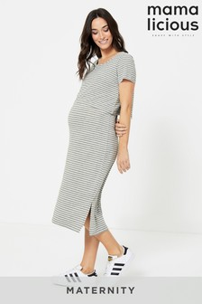 Mamalicious Maternity Dress With Nursing Function