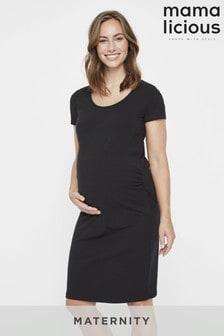 Mamalicious zwangerschapsjurk met korte mouwen