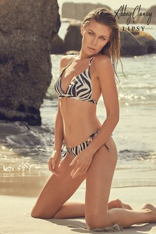 Abbey Clancy x Lipsy Bikinitop mit Animalprint