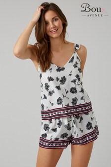 Пижама из вискозы с цветочным принтом Boux Avenue