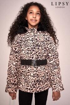 Dievčenskábundas leopardímvzoroma opaskom Lipsy