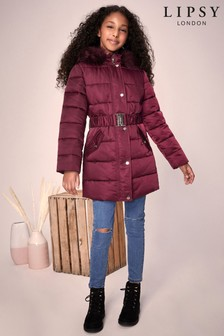 Lipsy Girl Long Line Padded Coat