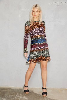 Never fully Dressed Monaco Modest Print Dress