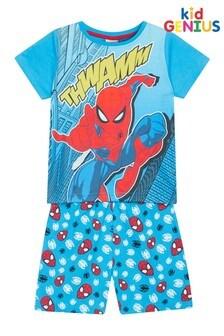 Kids Genius Boys Spiderman Pyjama Shorts Set