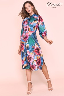 Closet A line Floral Dress