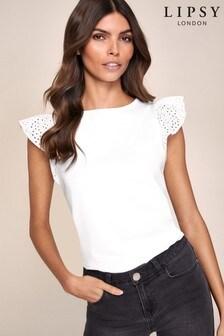 Lipsy T-shirt met volantmouwen