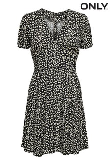 Only Ditsy Sunflower Print Mini Tea Dress