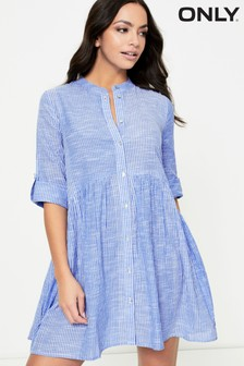 Only Cotton Stripe Smock Dress