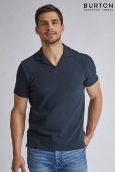 Burton Polo-T-Shirt mit Reverskragen und Waffelstruktur