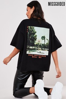 Missguided Bad Influence Graphic T-Shirt